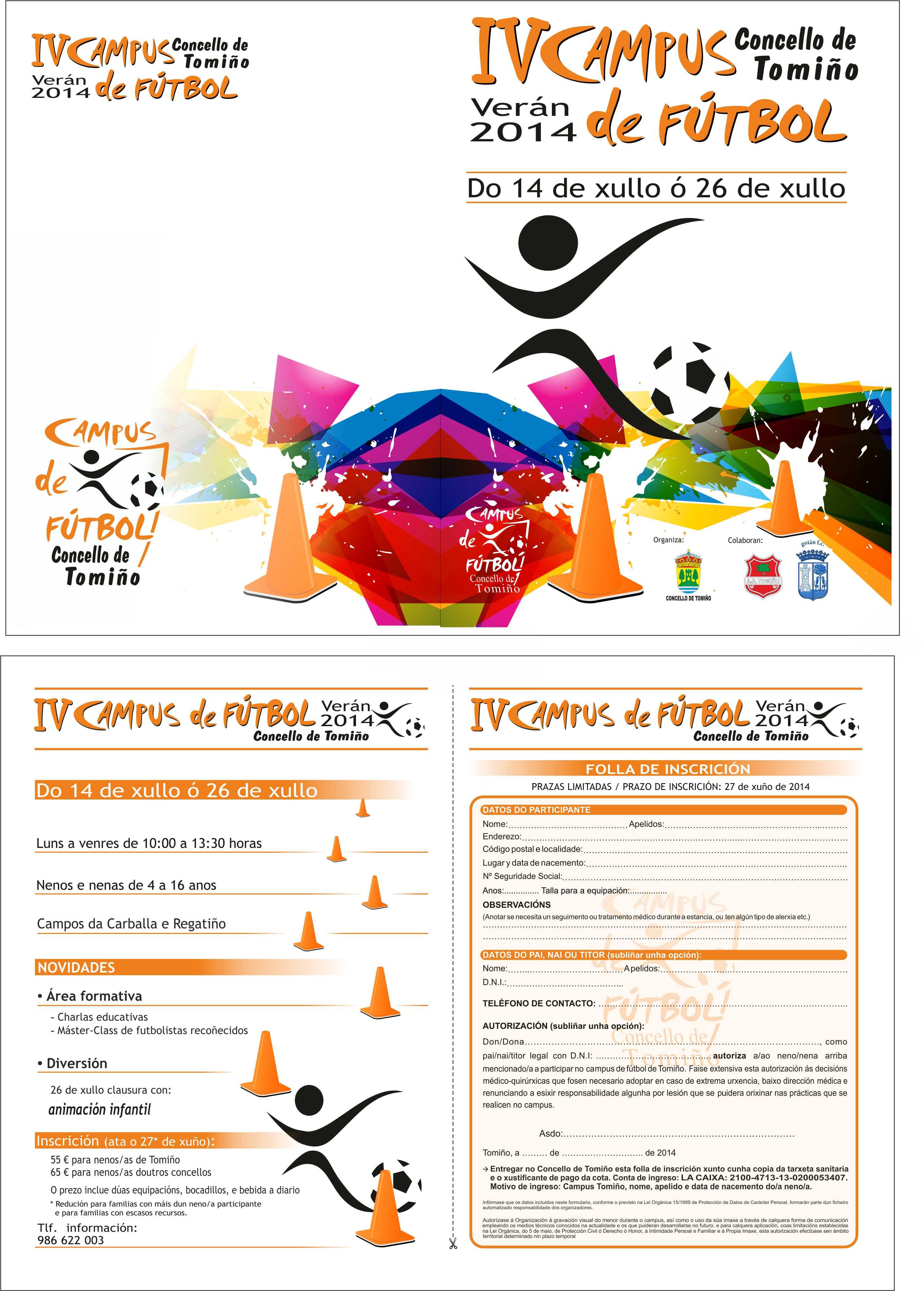Folla Inscrición Campus Fútbol Tomiño 2014