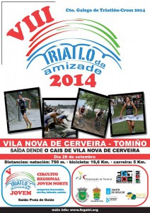 Cartel Triatlón Amizade 2014