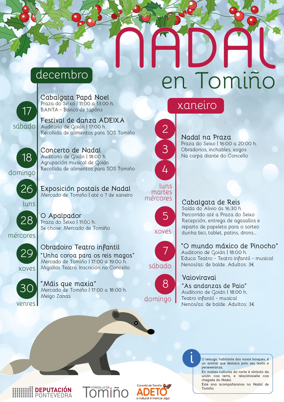 Cartaz actos Nadal 2016