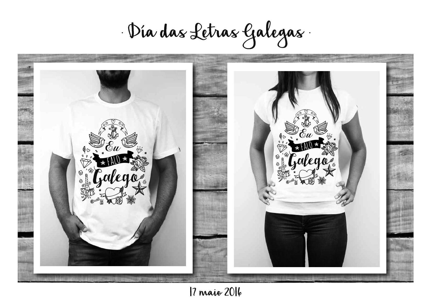 Camisetas Eu falo Galego