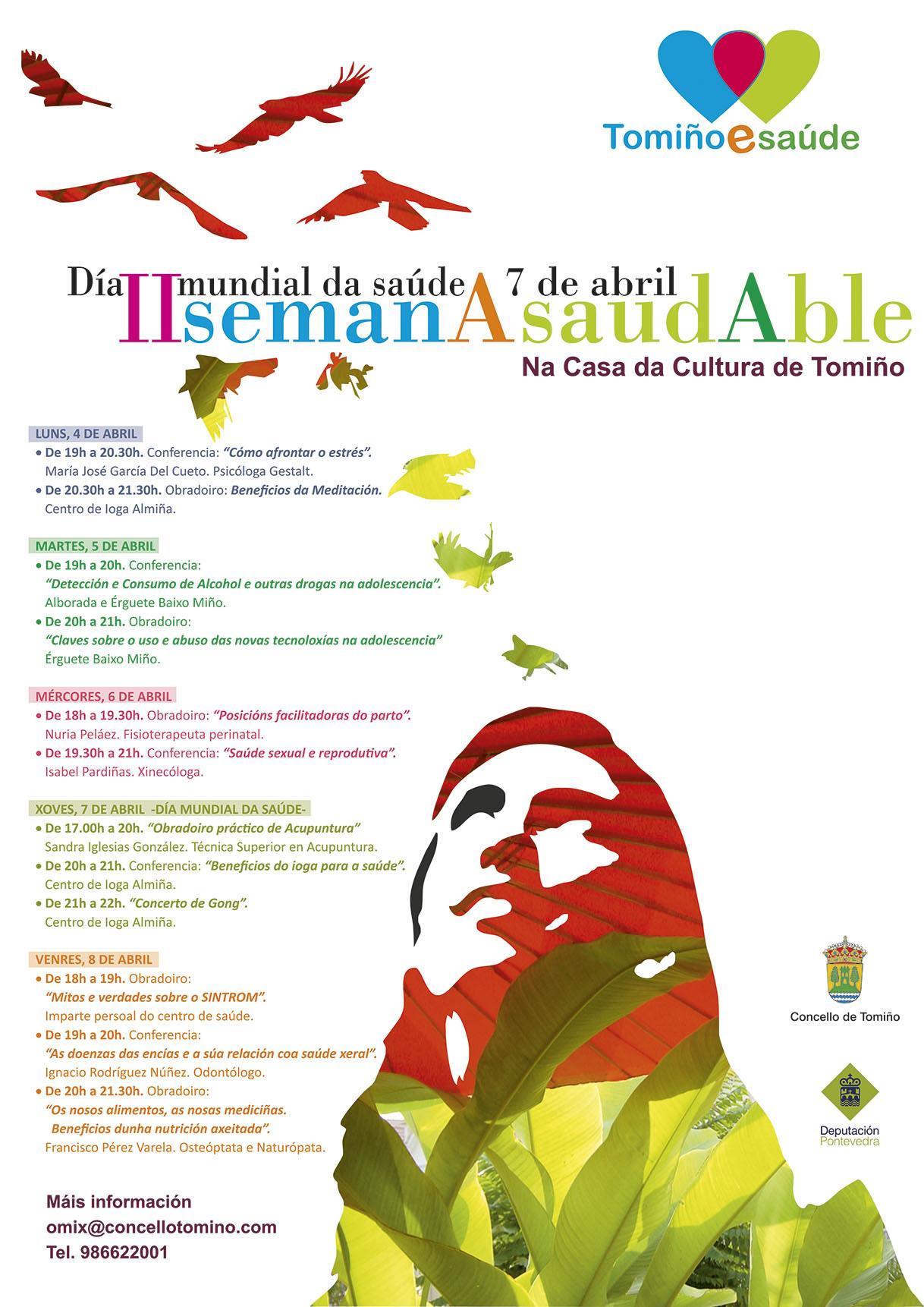 35eebdb8d0e59 29 Mar O Concello organiza a II SEMANA SAUDABLE entre os días 4 e 8 de abril  na Casa da Cultura de Tomiño