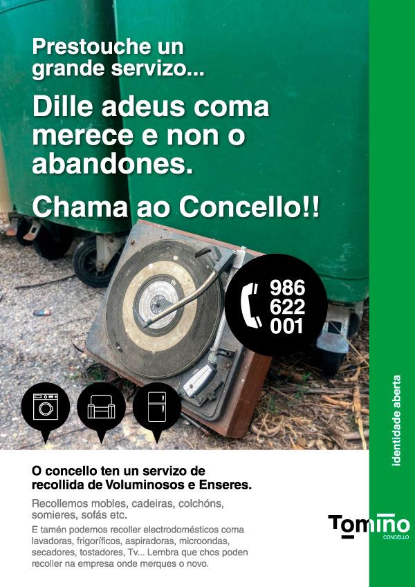 Campaña de recollida de voluminosos do Concello de Tomiño