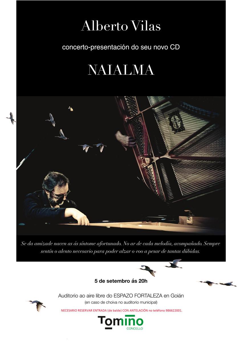 Alberto Vilas sorprenderá ao público co seu concerto de piano no Espazo Fortaleza de Goián