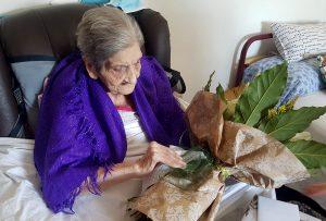 A centenaria tomiñesa Olga Ruggiero