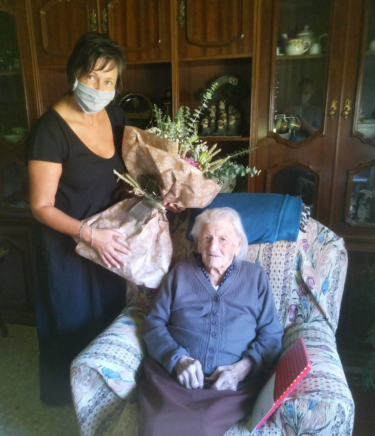 A centenaria tomiñesa Sara Rodríguez