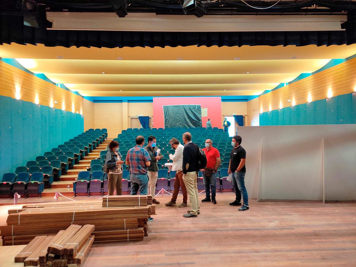 A reforma do auditorio de Goián chega ao seu ecuador
